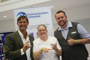 John Partridge with Communications Unlimted